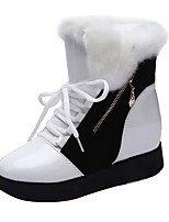 cheap -Women's Shoes Leatherette Winter Fall Snow Boots Fashion Boots Boots Creepers Round Toe Booties/Ankle Boots For Casual Office & Career