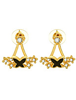 Women's Stud Earrings Rhinestone Simple Sweet Alloy Bowknot Jewelry For Birthday Gift Casual New Year Christmas