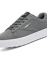 cheap -Men's Shoes PU Spring Fall Comfort Sneakers For Outdoor Red Gray Black