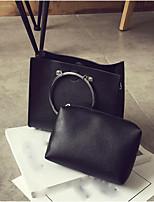 cheap -Women Bags PU Bag Set Pockets for Casual All Season Black Light Grey