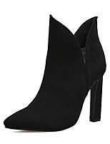 cheap -Women's Shoes Leatherette Fall Winter Comfort Novelty Fashion Boots Bootie Boots For Wedding Casual Almond Black