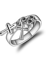 Women's Band Rings Fashion Korean Silver Cross Jewelry For Other Daily