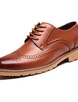 Для мужчин обувь Натуральная кожа Все сезоны Удобная обувь Оригинальная обувь Формальная обувь Туфли на шнуровке Назначение Свадьба Для