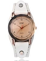 Жен. Модные часы Имитационная Четырехугольник Часы Китайский Кварцевый Натуральная кожа Группа На каждый день Cool Elegant Рождество