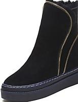 preiswerte -Damen Schuhe Gummi Winter Springerstiefel Stiefel Runde Zehe Für Schwarz Hellbraun