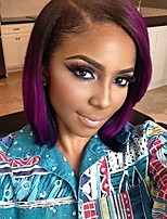 cheap -Ombre T1b/Purple Brazilian Human Hair Full Lace Wig Straight StyleFactory Price  Lace Front Natural hair wigs with Baby Hair For Black Woman On Sale