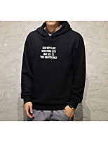 cheap -Men's Daily Going out Hoodie Print Hooded Micro-elastic Polyester Long Sleeves Spring Fall/Autumn