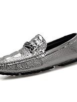 Для мужчин обувь Искусственное волокно Дерматин Полиуретан Весна Осень Удобная обувь Мокасины и Свитер Назначение Повседневные Белый