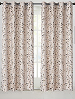 cheap -Rod Pocket Grommet Top Tab Top Double Pleat Pencil Pleat Curtain Country , Jacquard Floral Bedroom Polyester Blend Material Blackout