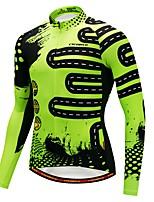 CYCOBYCO Maillot et Cuissard Long de Cyclisme Homme Manches longues Vélo Maillot Tenues de Cyclisme Garder au chaud Sports d'hiver Rayure