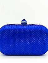 Women Bags Polyester Evening Bag Crystal Detailing for Wedding Event/Party All Season Dark Blue