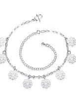 Women's Anklet/Bracelet Silver Plated Gold Plated Simple Lovely Flower Jewelry For Party Casual