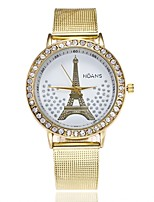 Per donna Orologio elegante Orologio da polso Orologio alla moda Cinese Quarzo imitazione diamante Lega di metallo Banda Lusso Casual Oro