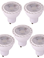 abordables -5pcs 6W GU10 Spot LED 7 diodes électroluminescentes SMD 2835 Lampe LED Décorative Blanc Chaud Blanc Froid 550lm 2800-3500;5000-6500