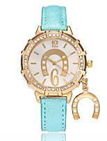 Жен. Модные часы Китайский Кварцевый PU Группа На каждый день Черный Белый Синий Красный Золотистый Фиолетовый Роуз Небесно-голубой