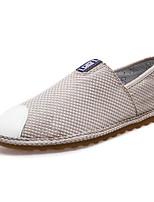 Для мужчин обувь Резина Весна Осень Удобная обувь Мокасины и Свитер Назначение Белый Черный Бежевый