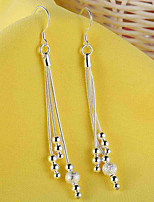 Women's Drop Earrings Fashion Elegant Silver Line Jewelry For Wedding Party