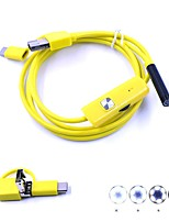7mm Lens 3 In 1 USB Endoscope Camera Inspection Borescope IP67 Waterproof Snake Cam 1M Hardwire for Android PC