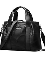 cheap -Women Bags PU Tote Zipper for Casual Office & Career All Season Black