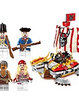 cheap -Building Blocks Boat Toys Ship Movie Character Nautical People Pirates Non Toxic Pirate Kids Boys' Adults' 464 Pieces