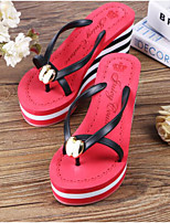 cheap -Women's Shoes PVC Summer Comfort Slippers & Flip-Flops For Casual Pink Blue Red