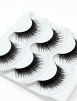 cheap -3 Eyelashes lash Full Strip Lashes Eyelash Thick Casual/Daily Handmade Fiber Black Band 0.07mm 12mm
