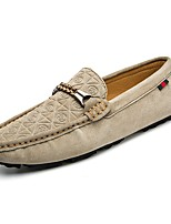 Men's Shoes PU Spring Fall Moccasin Loafers & Slip-Ons For Casual Khaki Blue Brown Black