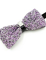 cheap -Men's Cotton Bow Tie,Vintage Party Crystal/Rhinestone All Seasons Lavender