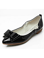 cheap -Women's Shoes Leatherette Spring Fall Comfort Novelty Light Soles Flats Flat Pointed Toe Bowknot for Casual Dress Nude Red Black