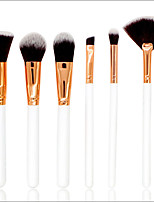 preiswerte -6 Stücke Bürsten-Satz- Rouge Pinsel Lidschatten Pinsel Lippenpinsel Puderpinsel Grundlagen Pinsel Nylon Pinsel Künstliches Haar