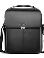 cheap -Men Bags PU Shoulder Bag Zipper for Event/Party Outdoor Winter Fall Brown Black