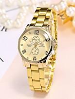 abordables -Mujer Reloj de Pulsera Reloj Casual Reloj de Moda Chino Cuarzo Reloj Casual Aleación Banda Lujo Casual Elegant Dorado