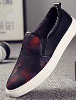abordables -Hombre Zapatos Oxford Tejido Primavera Otoño Confort Zapatos de taco bajo y Slip-On para Casual Rojo Azul