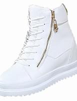 economico -Da donna Scarpe PU (Poliuretano) Inverno Comoda Sneakers Piatto Punta tonda per Casual Bianco Nero
