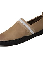 cheap -Men's Shoes Synthetic Microfiber PU Spring Fall Moccasin Light Soles Loafers & Slip-Ons for Casual Brown Black