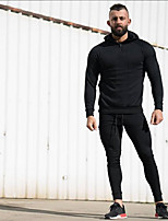 cheap -Men's Plus Size Daily Vintage Hoodie Solid Round Neck Without Lining >75% Cotton Acrylic Others Short Sleeve Fall