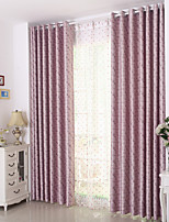 cheap -Rod Pocket Grommet Top Tab Top Double Pleat Pencil Pleat Curtain Modern , Jacquard Lattice Bedroom Polyester Blend Material Blackout