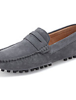 cheap -Men's Shoes Nubuck leather Cowhide Spring Fall Comfort Loafers & Slip-Ons for Casual Blue Red Yellow Gray Black
