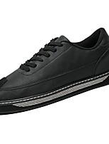 Недорогие -Для мужчин обувь Резина Весна Осень Удобная обувь Кеды Для прогулок Ботинки Ленты для Черный Серый