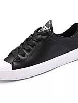 Недорогие -Для мужчин обувь Резина Весна Осень Удобная обувь Кеды Для прогулок Ботинки Ленты для Белый Черный