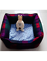 cheap -Cat Dog Bed Pet Mats & Pads Plaid/Check Portable Foldable Rainbow For Pets