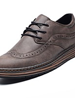cheap -Men's Shoes PU Spring Fall Comfort Oxfords for Casual Brown Gray Black