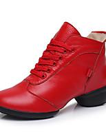 "cheap -Women's Modern Cowhide Sneaker Practice Chunky Heel Red Black 1"" - 1 3/4"" Customizable"