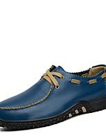 Недорогие -Для мужчин обувь Натуральная кожа Наппа Leather Кожа Весна Осень Удобная обувь Формальная обувь Топ-сайдеры для Повседневные Оранжевый