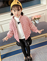 cheap -Girls' Daily Solid Letter & Number Jacket & Coat,Cotton Polyester Long Sleeves Casual Blushing Pink