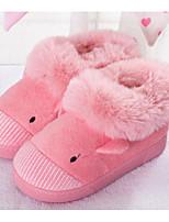 preiswerte -Mädchen Schuhe Vlies Winter Herbst Komfort Slippers & Flip-Flops für Normal Grau Braun Rot Blau Rosa