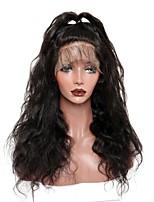 preiswerte -Damen Echthaar Perücken mit Spitze Peruanisches Haare mit intakter Kutikula (Remy Hair) 360 Frontal 180% Dichte Mit Strähnen Große Wellen