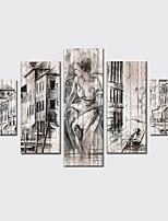Недорогие -Холст для печати Modern,5 панелей Холст С картинкой Декор стены Украшение дома