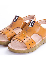 Boys' Shoes Cowhide Spring Fall Comfort Sandals for Casual Brown Yellow Black White