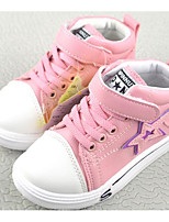 cheap -Girls' Shoes PU Winter Fall Comfort Sneakers for Casual Pink Black White